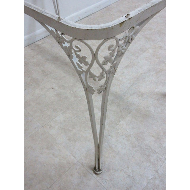Glass Vintage Woodard Outdoor Patio Metal Dining Set For Sale - Image 7 of 7
