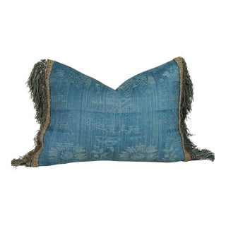 18th Century Fringed French Chateau Curtain Pillow Cover For Sale