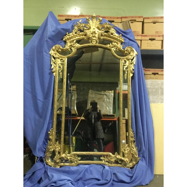 6 ' Tall French 19th C. Gilt Mirror For Sale - Image 10 of 10