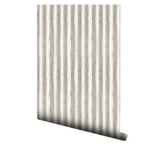Japanese Inspired Sand Vertical Stripe Wallpaper