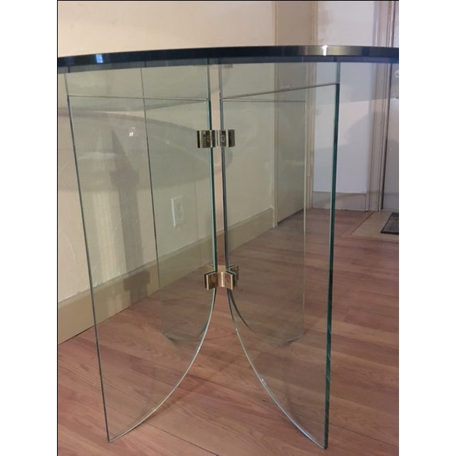Pace Pedestal Glass Dining Table, Circa 1970 - Image 4 of 5