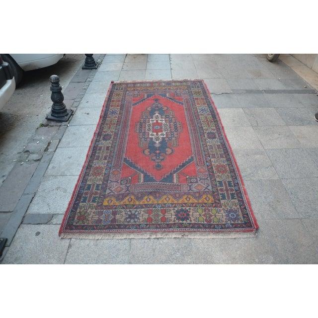 Turkish Handmade Floor Rug - 4′5″ × 8′3″ - Image 2 of 6