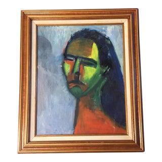 Mid-Century Modernist Female Portrait For Sale