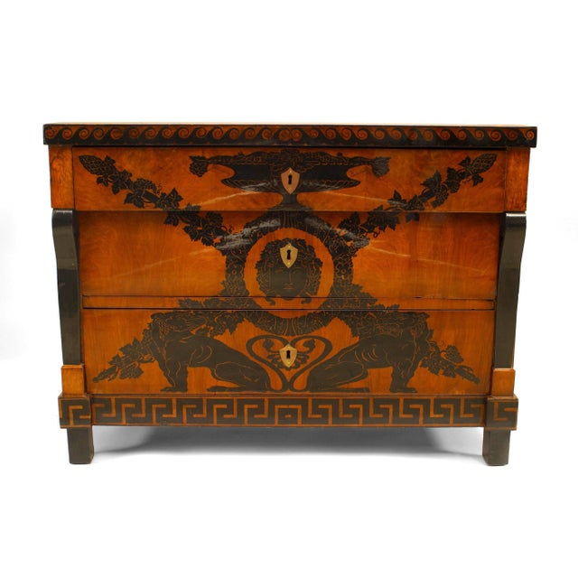 Italian Neoclassical walnut chest dating to the first half of the nineteenth century. The chest features three drawers and...
