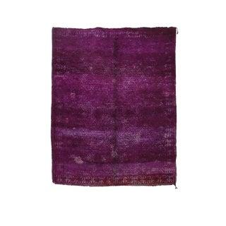 "Beni M'Guild Vintage Moroccan Purple Wool Rug - 6'11"" X 8'6"" For Sale"