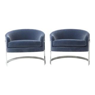 1970s Milo Baughman Club Chairs - a Pair For Sale