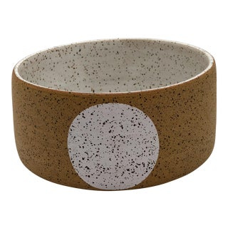 Handmade Ceramic White Dots Speckled Bowl