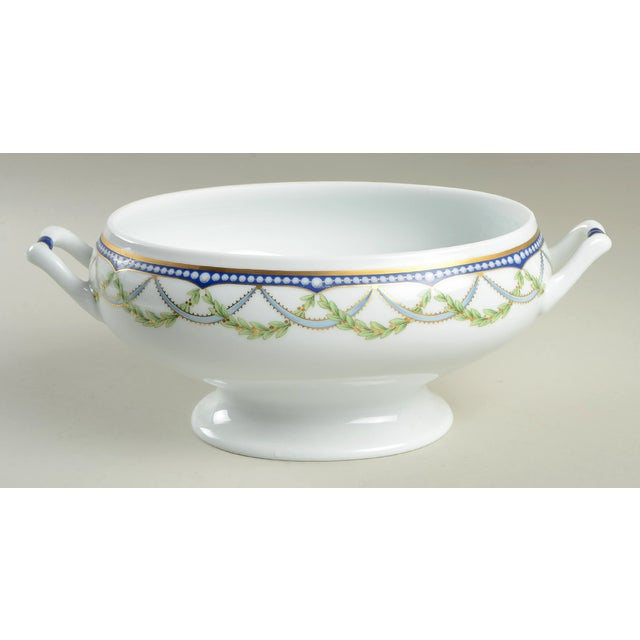 French Tiffany Federal Oval Covered Server For Sale - Image 3 of 8