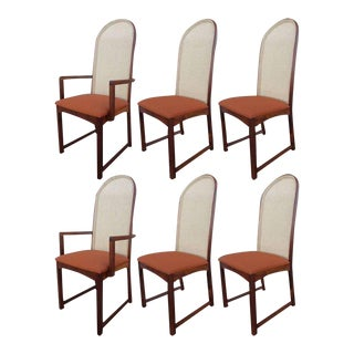 Caned Back Dining Chairs by Milo Baughman - Set of 6