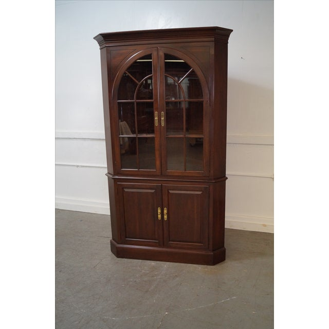 Ethan Allen Georgian Court Cherry Cabinets - Pair - Image 4 of 10