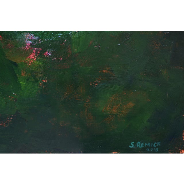 "2010s 2010s Abstract Painting, ""Sunset over the Mad River"" by Stephen Remick For Sale - Image 5 of 10"
