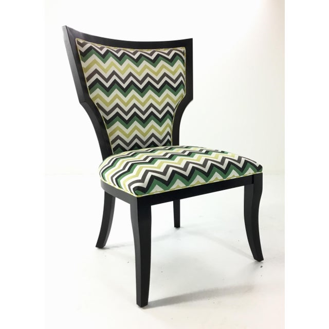 Currey and Co. Green Herringbone Garbo Side/Desk Chair For Sale In Atlanta - Image 6 of 6