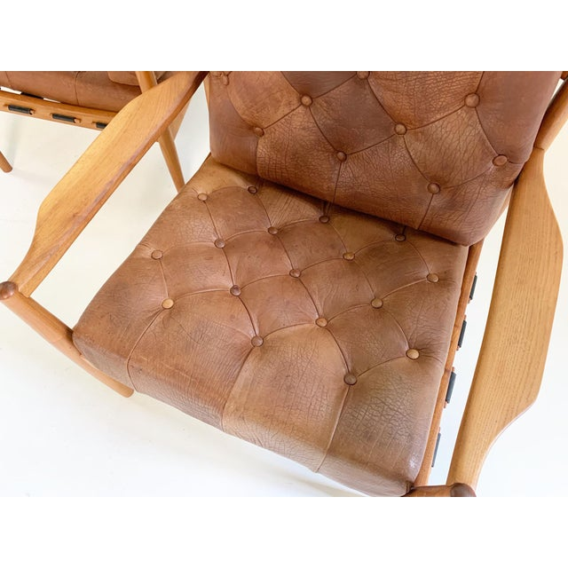 Ingemar Thillmark Lacko Buffalo Hide Lounge Chairs - a Pair For Sale In Saint Louis - Image 6 of 8