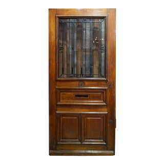 Mid 19th Century French Door with Letter Slot, Circa 1850 For Sale