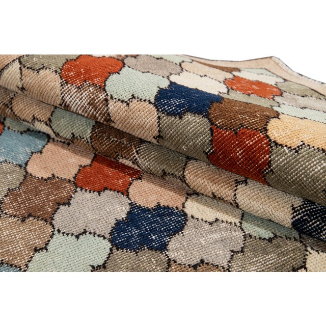 Textile Vintage Turkish Scatter Wool Rug 4 X 8 For Sale - Image 7 of 13