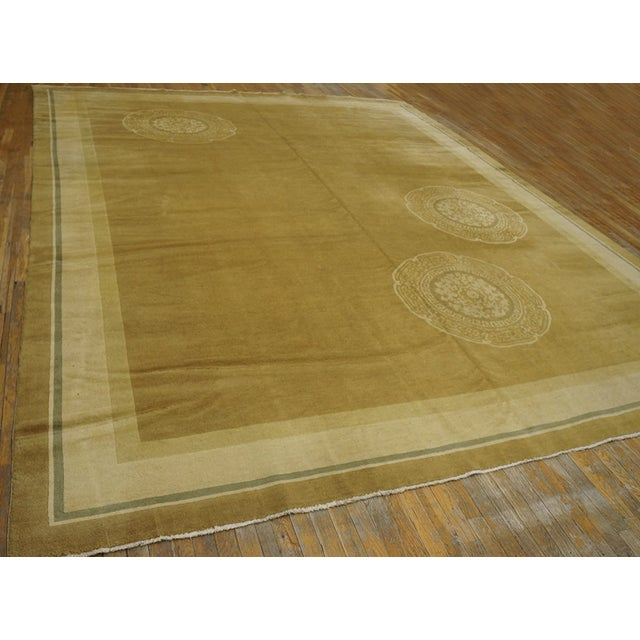 Antique Chinese Art Deco Rug For Sale - Image 4 of 12
