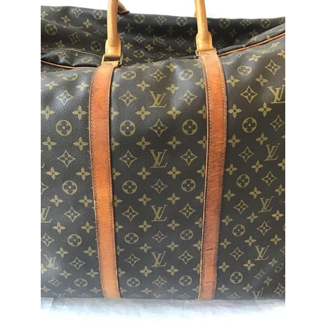 Chocolate 1980s Louis Vuitton Soft Suitcase For Sale - Image 8 of 13