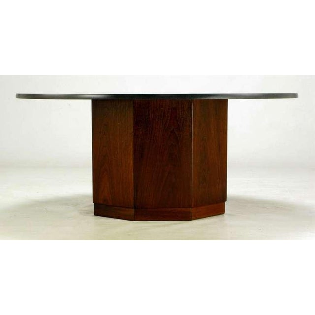 Fred Kemp Walnut & Slate Coffee Table - Image 2 of 3