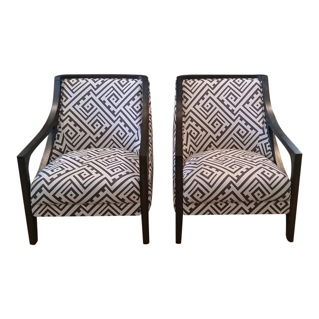 Contemporary New Accent Chairs - Pair - Image 1 of 7