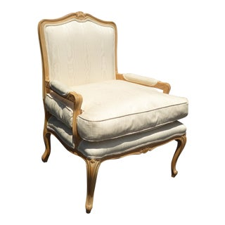 Vintage French Provincial Off White Chair W Down Cushion ~ Meyer Gunther Martini