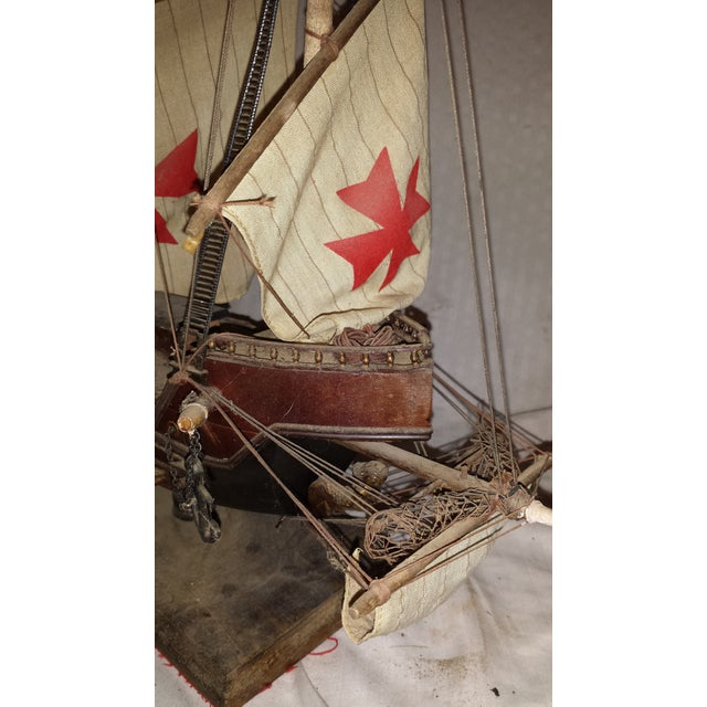 Antique Wooden European Ship Galleon For Sale - Image 9 of 11