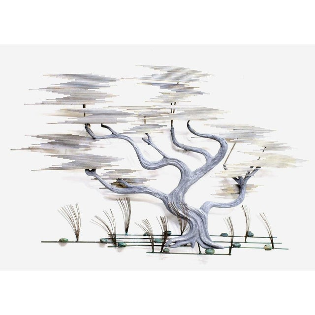 1980s Curtis Jere Bonsai Tree Wall Sculpture For Sale