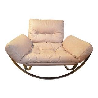 Mid Century Modern Italian Stendig Chair Newly Upholstered For Sale