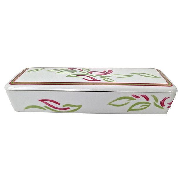 Vintage Tri-Section Box With Lid - Image 5 of 7