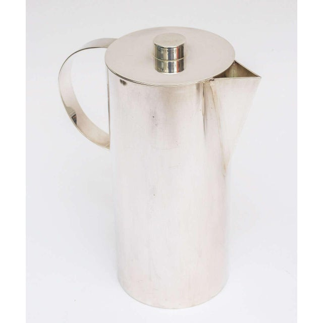 Modern Silver Plate Swid Powell for Calvin Klein Three-Piece Coffee Service For Sale - Image 3 of 11