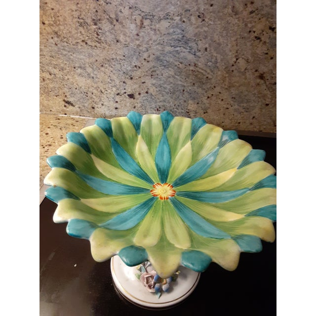 Top porcelain maker Mottahedeh designed this fabulous chroma centerpiece. Would look good anywhere, could be serveware for...