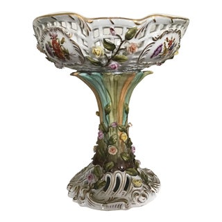 Sitzendorf Dresden Reticulated Compote For Sale