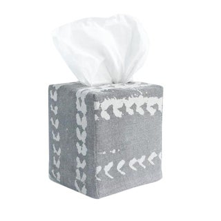 Vines Tissue Box Cover in Grey For Sale