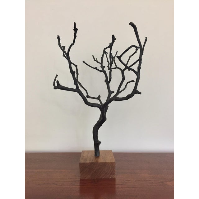 This organic contemporary bronze jewelry tree is beautiful by itself or to display: jewelry, small photos, gratitude...