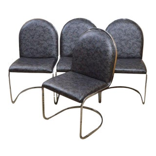Art Deco Style Cantilever Dining Chairs - Set of 4