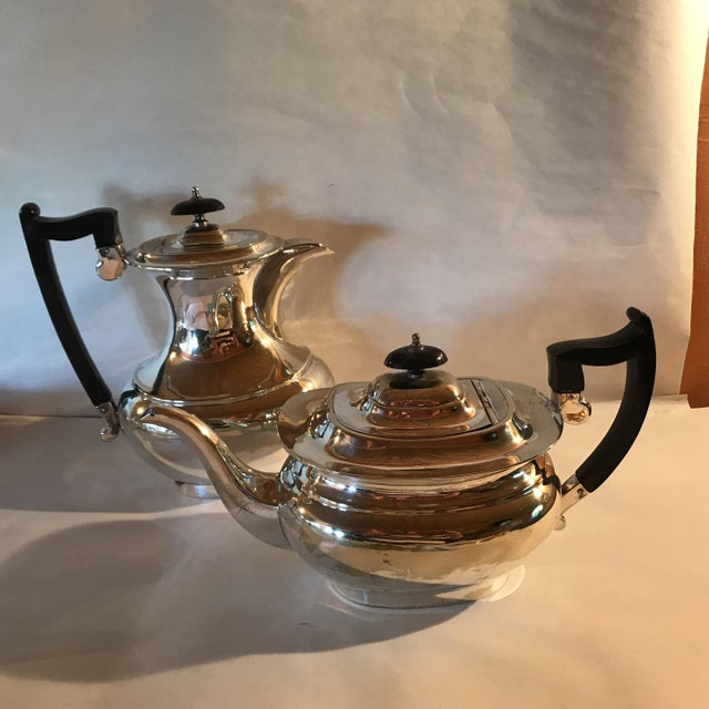 English Traditional 2 Pieces - English Sheffield Silver Coffeepot and Teapot For Sale - Image 3 of 7