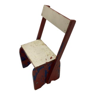 1950s Vintage Rustic Child's Chair For Sale