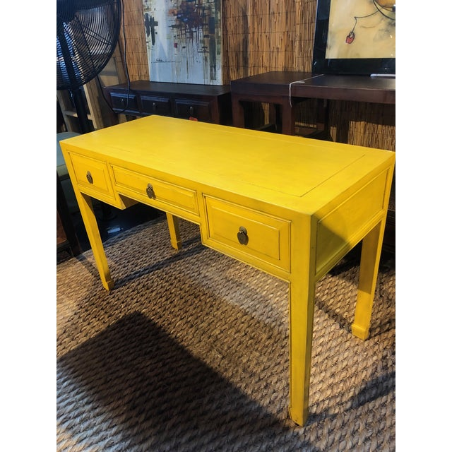 Ming style writing desk with 2 side drawers and 1 pencil drawer, this desk is handcrafted in china using solid elm wood...