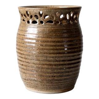 Vintage Artist Signed Studio Pottery Vase For Sale