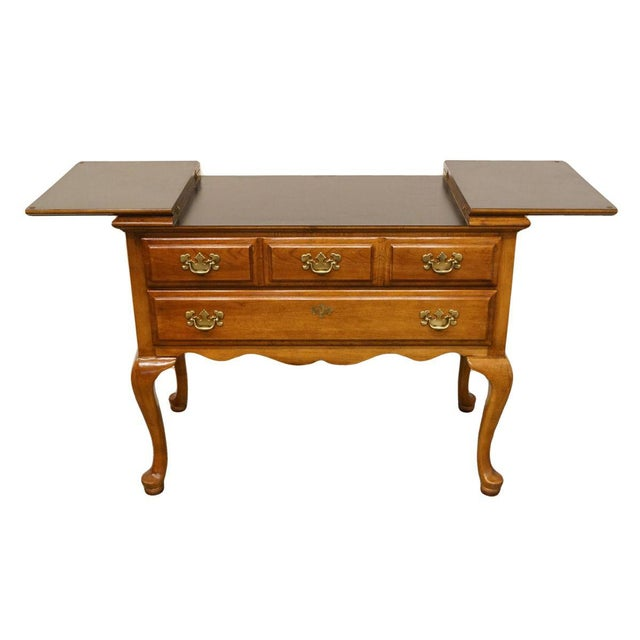 """Dixie Dixie Court Collection Cherry 40"""" Flip-Top Server Buffet 120-862 For Sale - Image 4 of 13"""
