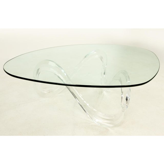 Knut Hesterberg Lucite Noguchi Style Coffee Table