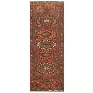 "Vintage Persian Hamedan Runner Rug - 3'5"" x 13' For Sale"