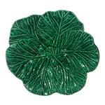 1980s Cottage Cabbage Leaf Majolica Bowl/Platter