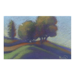"Linda Ruiz Lozito ""Port Costa Hillside"" Pastel Drawing For Sale"