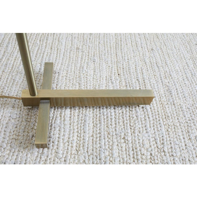 Casella Brass Height Adjustable Pharmacy Floor Lamp For Sale In San Francisco - Image 6 of 12