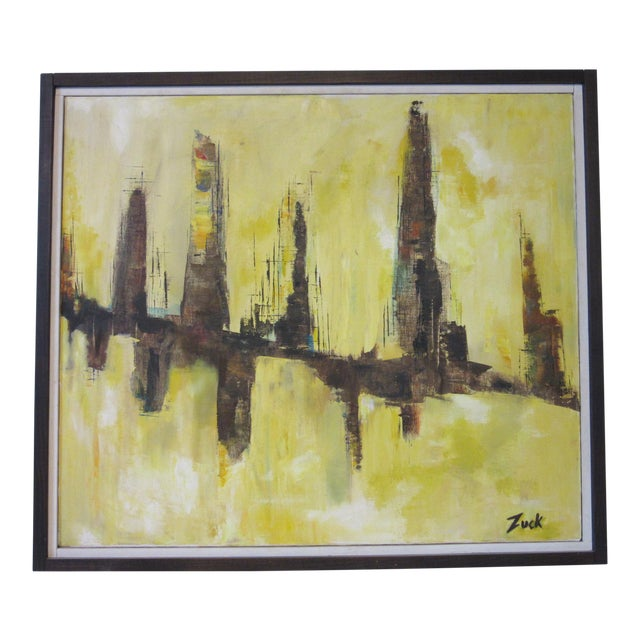 Cityscape Painting by Zuck For Sale