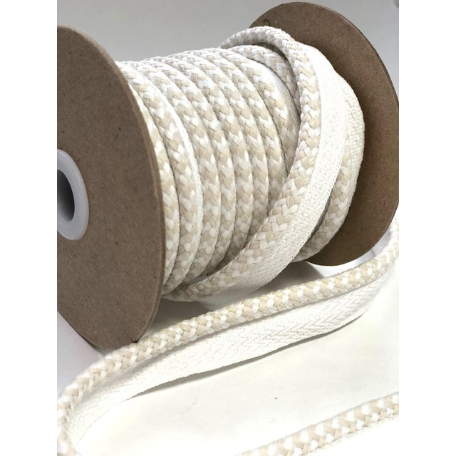 """Braided 1/4"""" Indoor/Outdoor Cord in White/Cream For Sale - Image 9 of 10"""