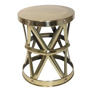 Vintage Sarreid Ltd Drum Drinks Table For Sale