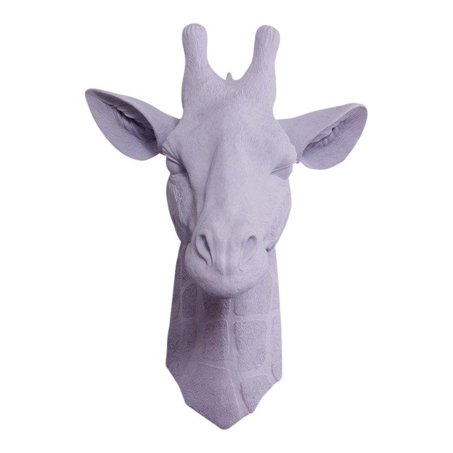 Wall Charmers Faux Lavender Purple Giraffe Head Wall Sculpture - Image 1 of 3