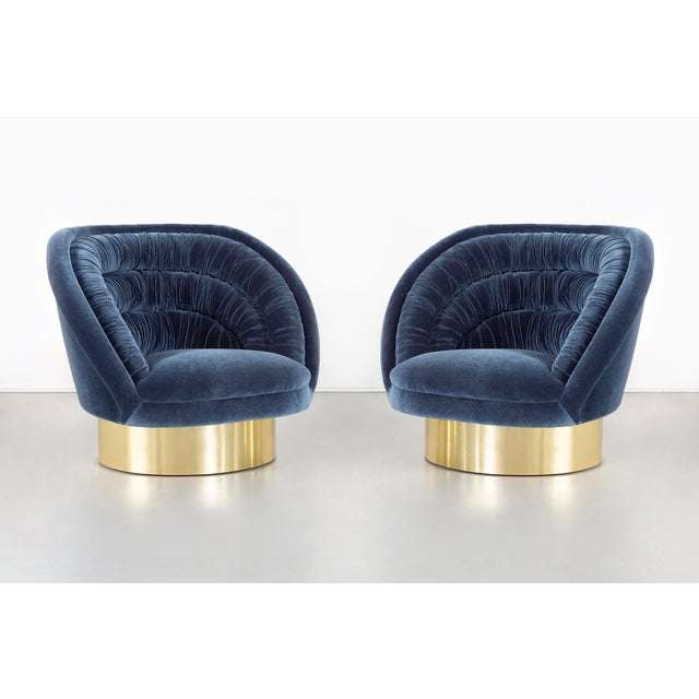 Vladimir Kagan Crescent Chairs Freshly Reupholstered - A Pair For Sale - Image 11 of 11
