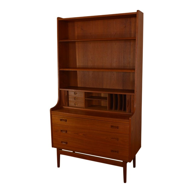 Bornholm Danish Modern Teak Secretary/Bookcase For Sale
